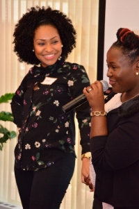Speaker Jenny and Queens Co. Women & Wealth Financial Conference attendee.