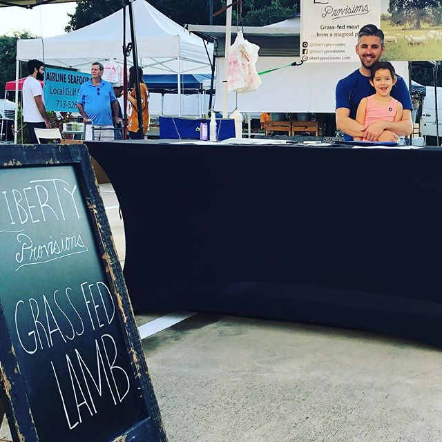 We're here!! Would love to see you today at the #urbanharvestfarmersmarket . . . . #grassfedlamb #libertprovisions #houston #htx #meateater #eatlocal #houstoneats
