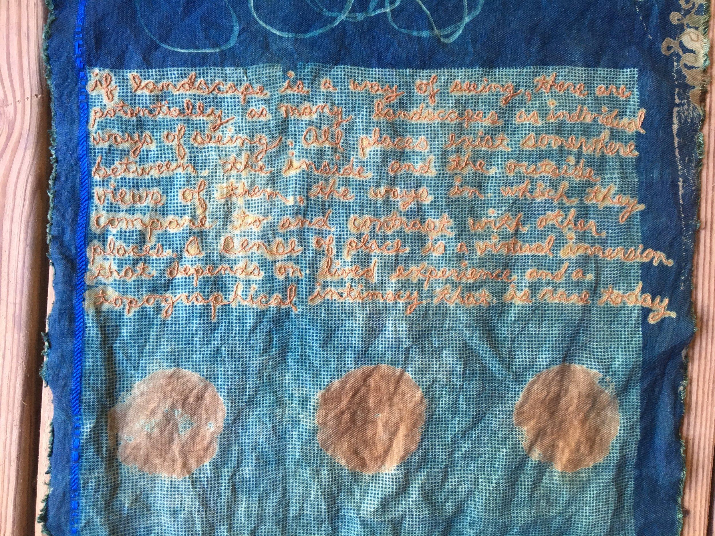 Cyanotype - dye - embroidery
