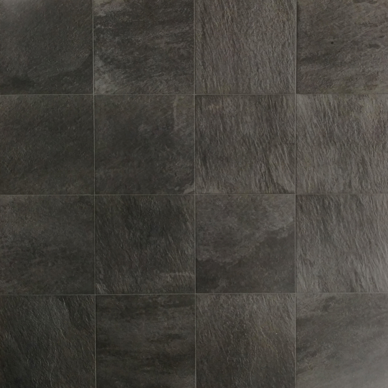 "Quartzite Grafite  12""x12"" Porcelain (16 pieces shown for variation) Also available in : 6"" x 6"", 12"" x 24"", 18""x 18"""
