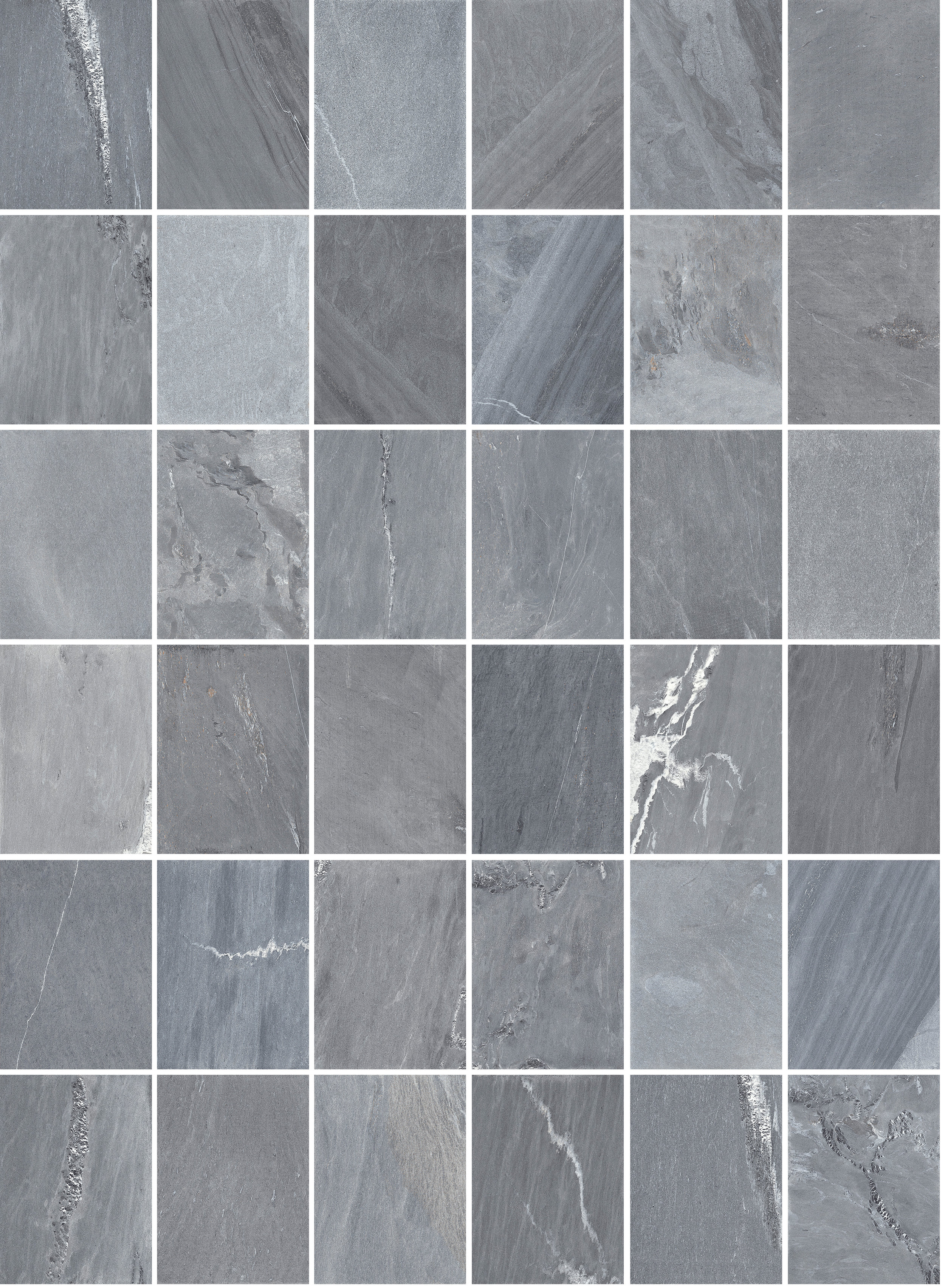 Featuring 36 different faces replicating the beauty and variation of natural stone. (Grigio Scuro shown)