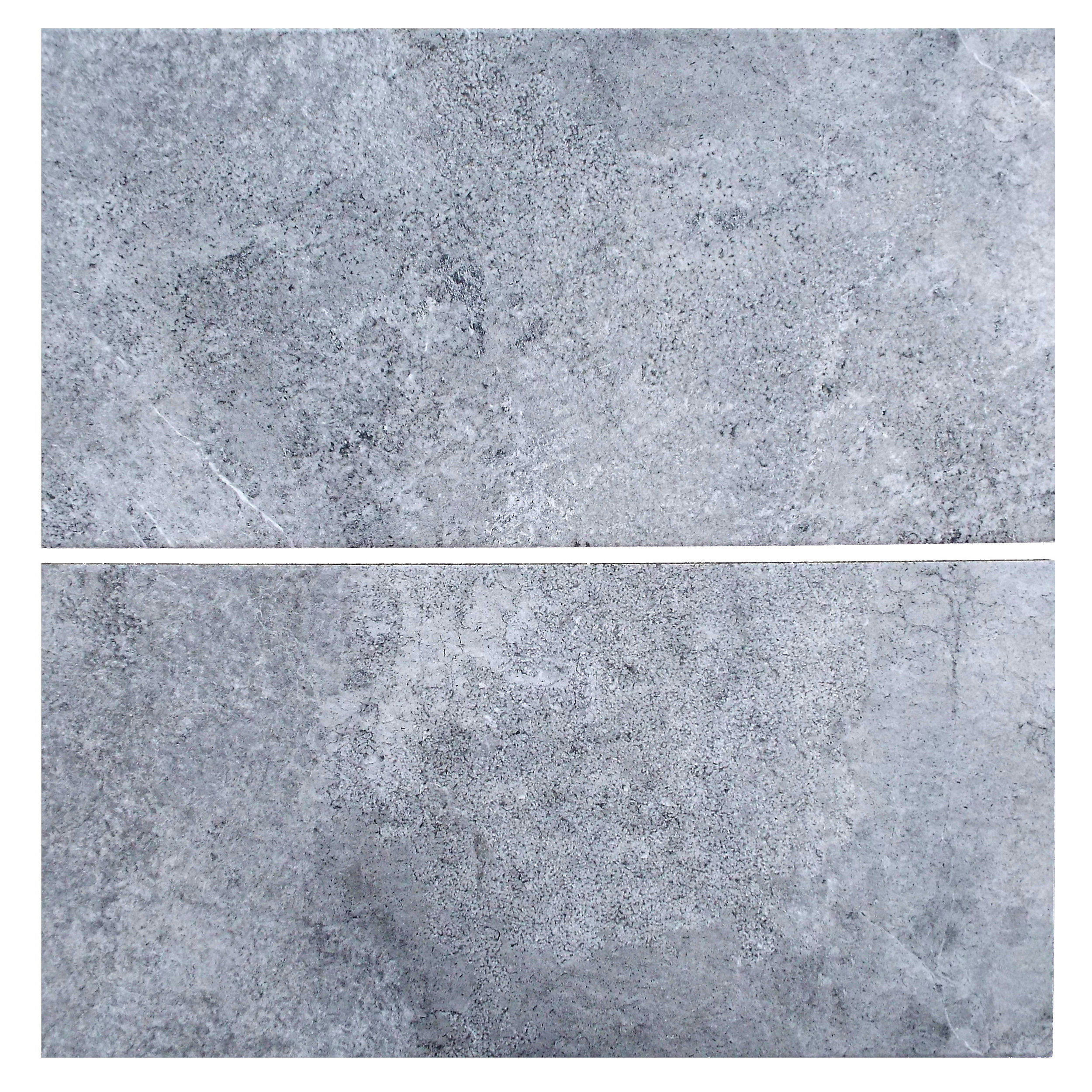 """Lava - 12"""" x 24"""" Porcelain (11mm thickness) (2 pieces shown for variation)"""