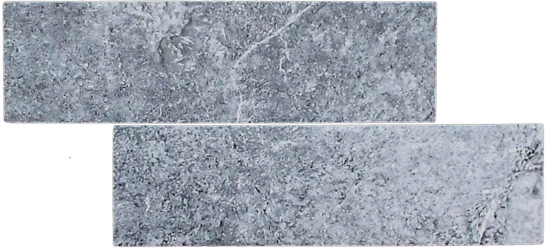 """Lava - 2.5"""" x 9"""" Porcelain (7mm thickness) (2 pieces shown for variation)"""