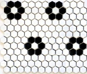 """HEX-1025  Hexagon 1"""" Florette"""