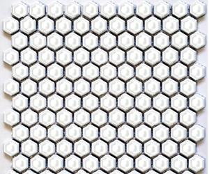 "HEX-1100  Hexagon 1"" Shiny White"