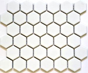 "HEX2-1010  Hexagon 2"" Matte White"
