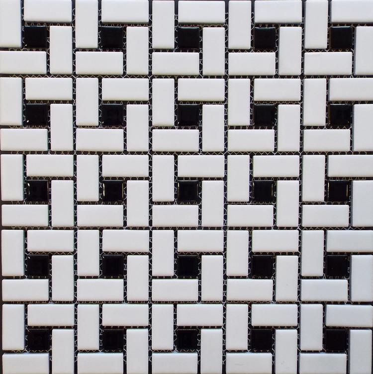 Spiral  - Matte White w/ Shiny Black Dot [HKS-518]