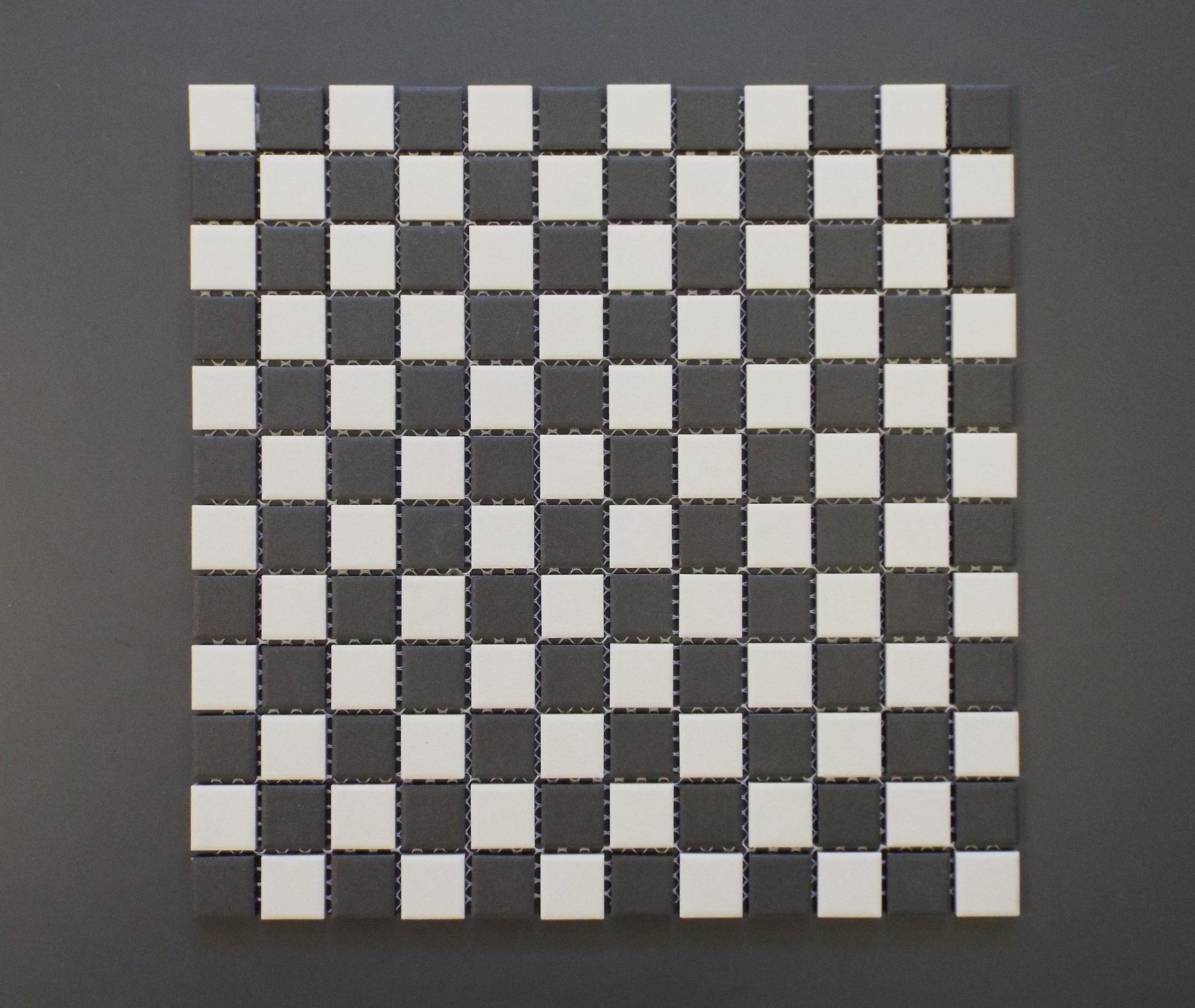 "Unglazed  - Checkered 1"" x 1"""