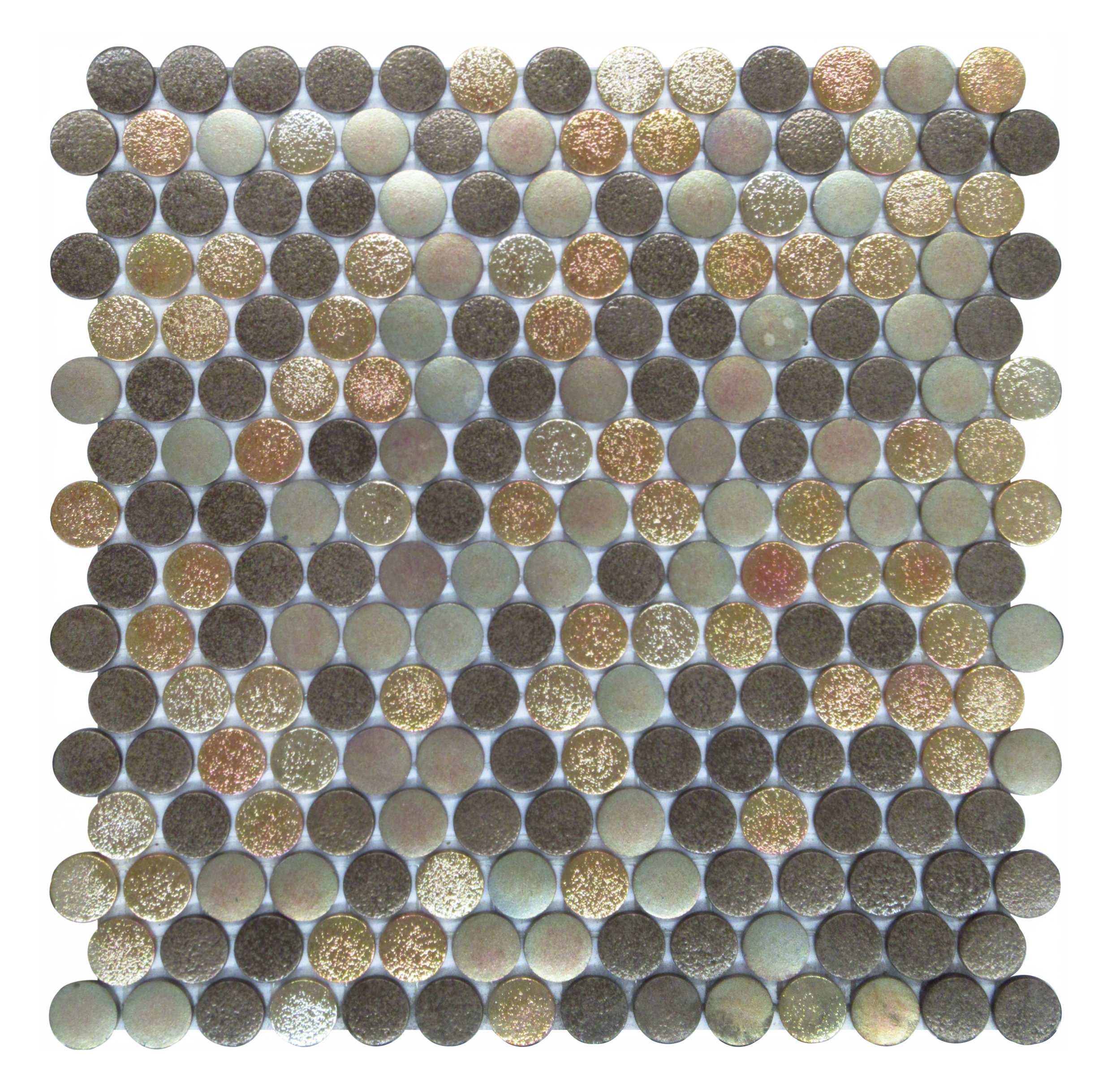 "Magm  a #5126  - 1"" Pennyround Glass Mosaic"