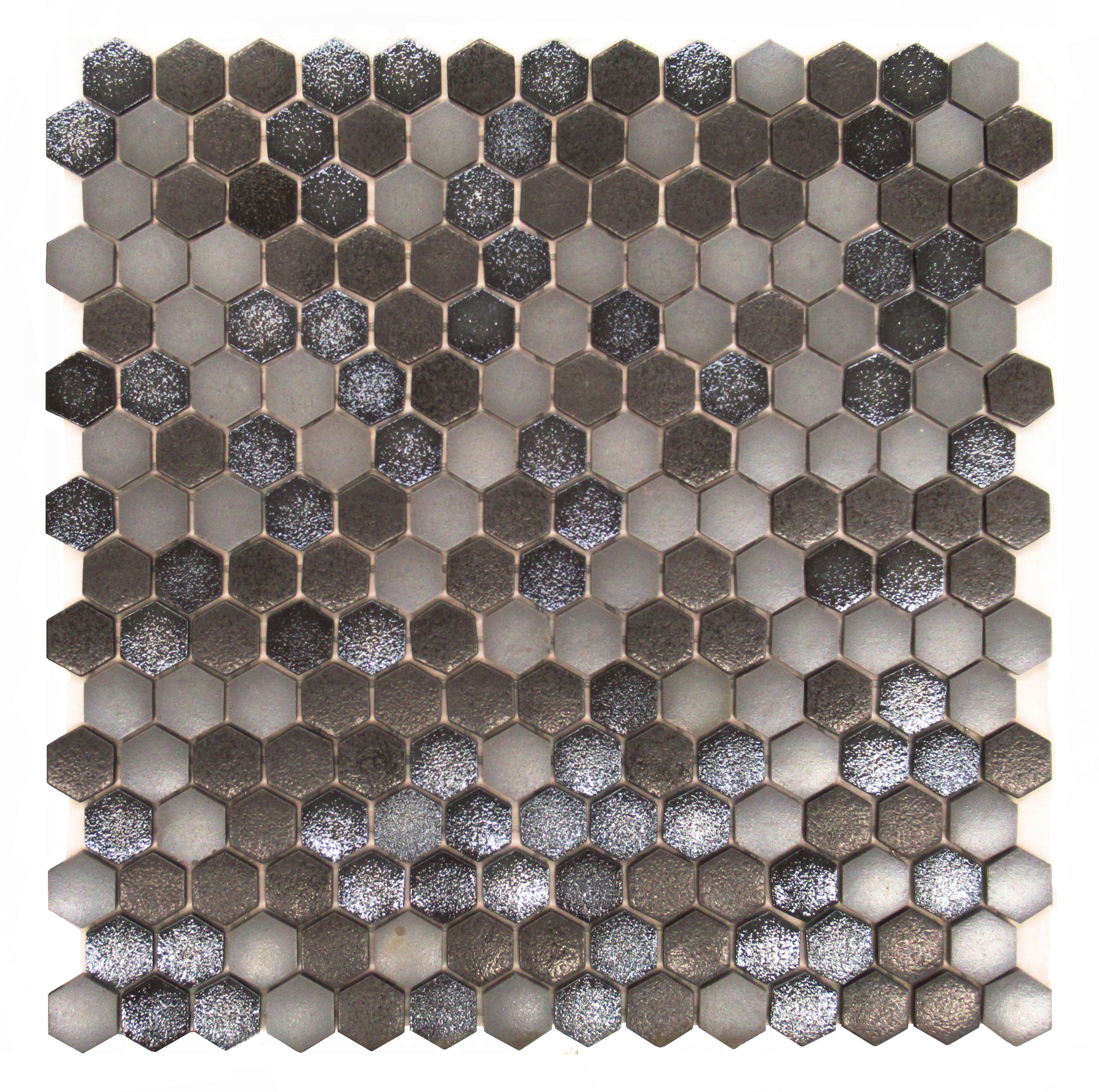 "Ambient #5127  - 1"" Hexagon Glass Mosaic"