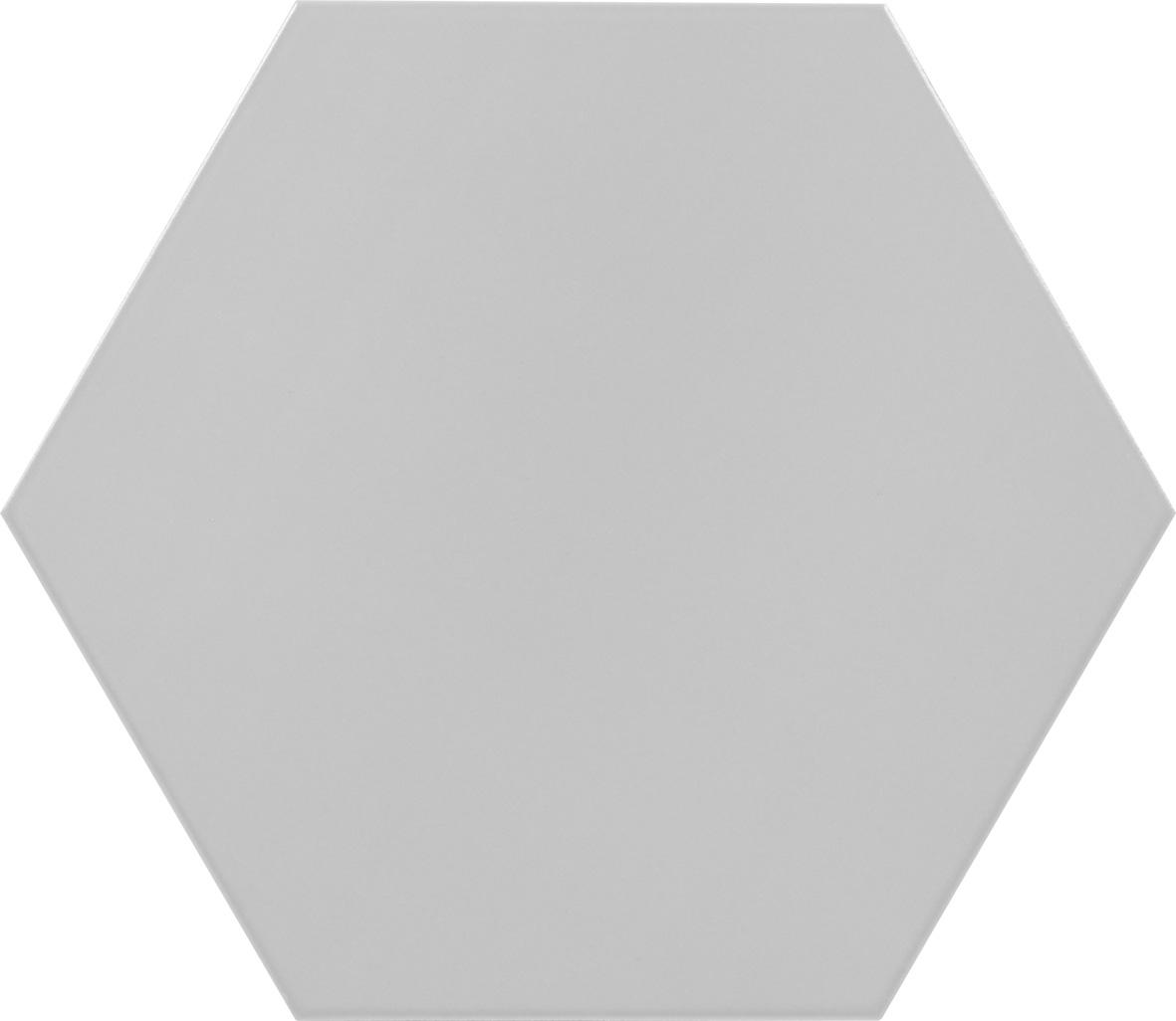 """Gris - 10""""Porcelain Hexagon"""