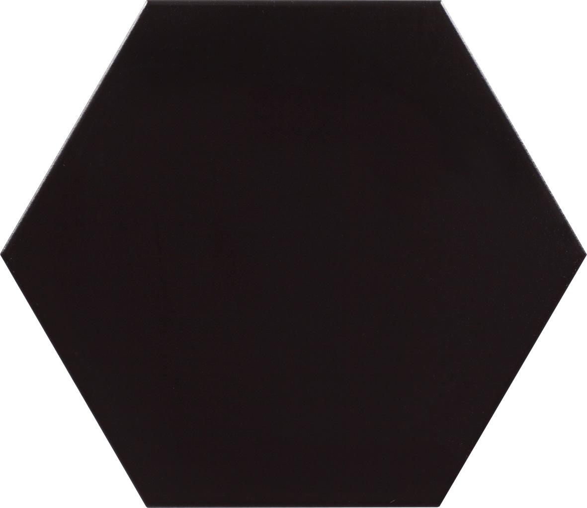 "Negro - 10""Porcelain Hexagon"