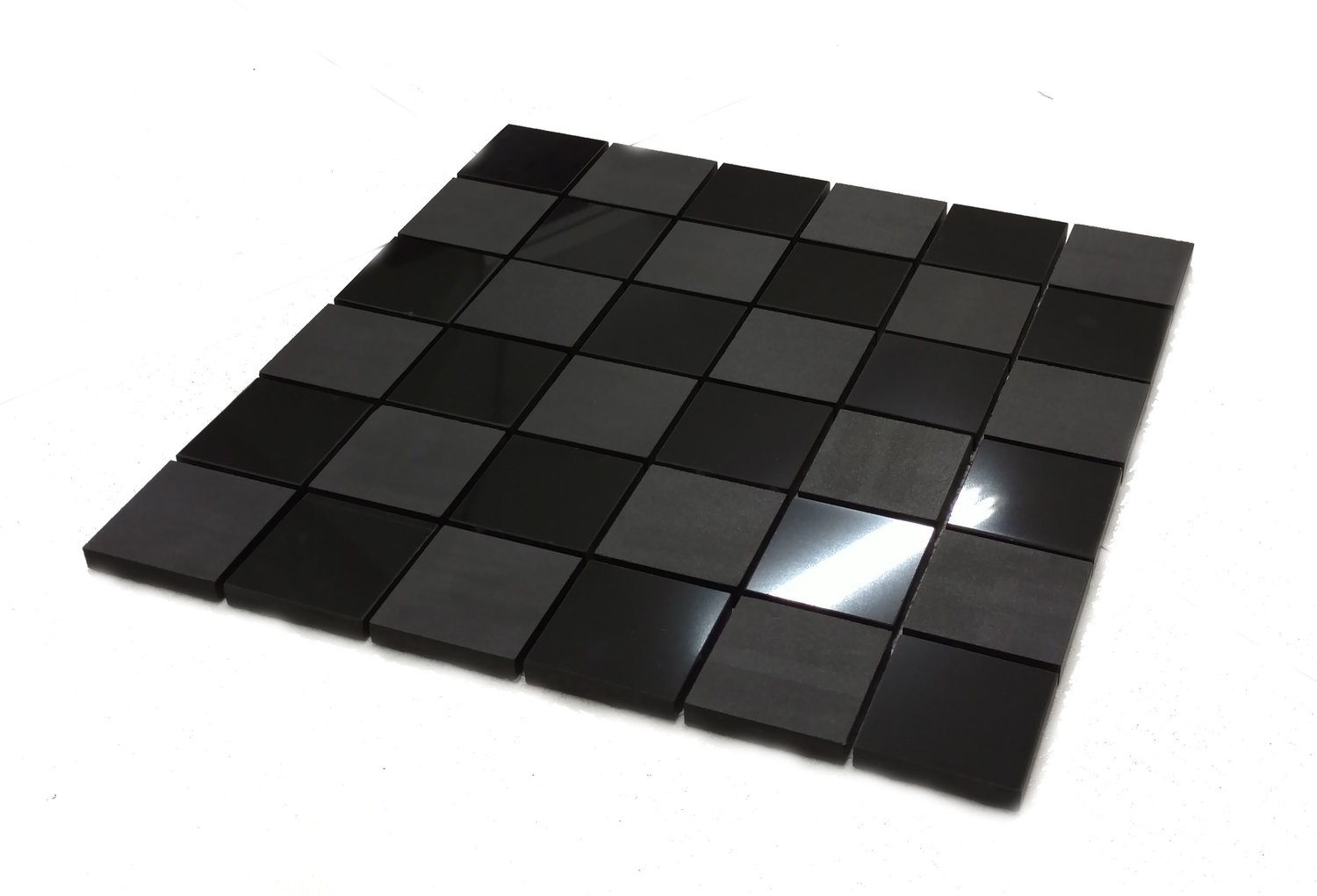 "Checkered  - 2"" x 2"" Glazed Mosaic Porcelain"