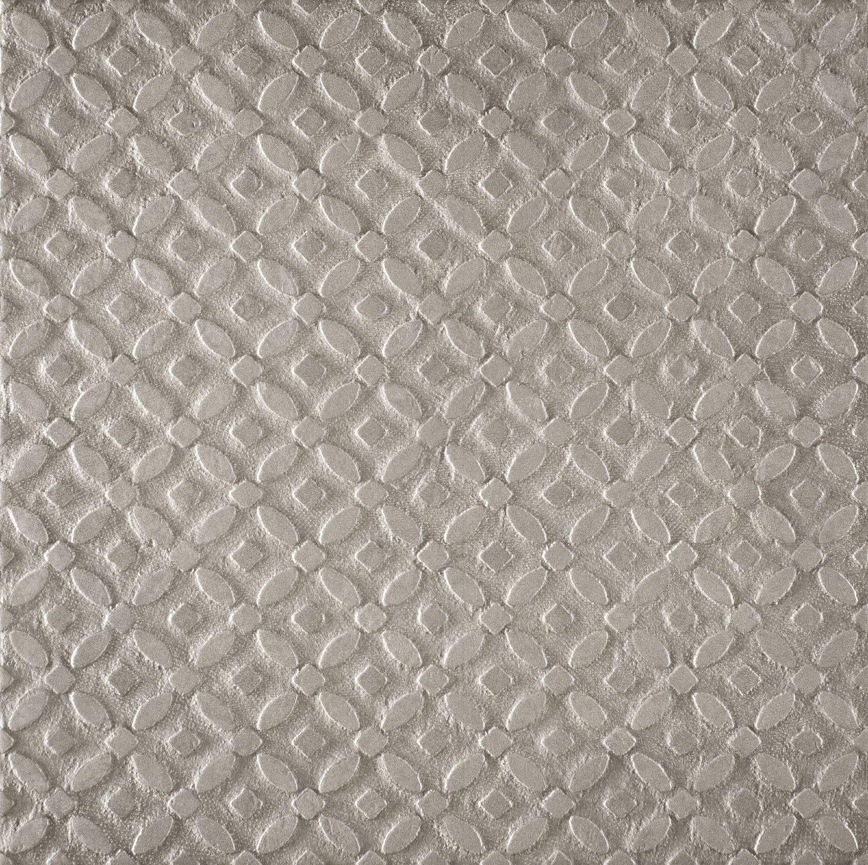 """Calzada Gris Relief Deco  - 24"""" x 24"""" Glazed Porcelain"""