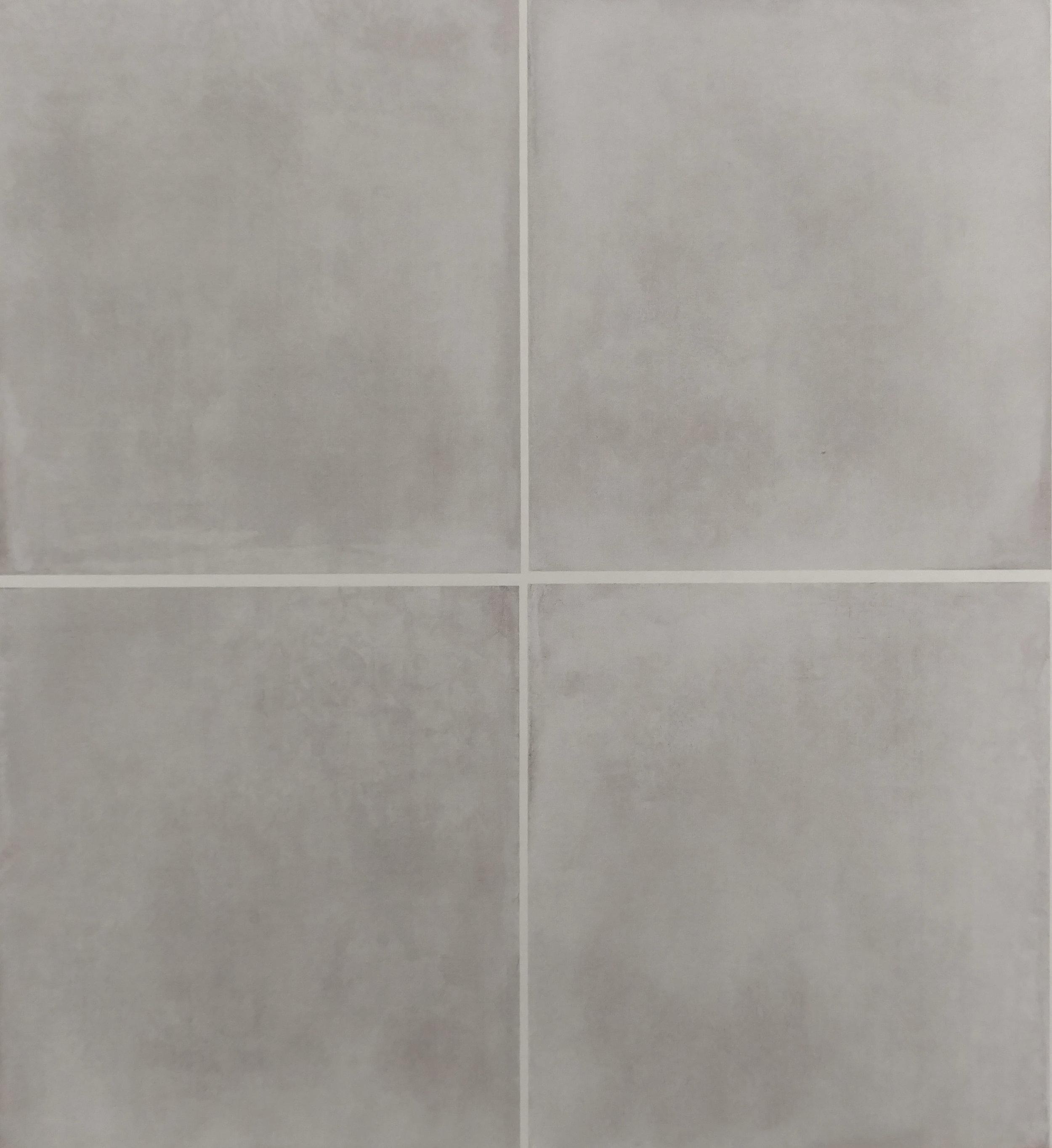 """Silver  - 24"""" x 24"""" Porcelain  [4 pieces shown]"""