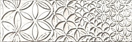 """Retro Vintage Deco Blanco Glossy  - 9.8"""" x 29.5"""" Wall Tile"""