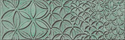 """Retro Vintage Deco Turquesa Glossy  - 9.8"""" x 29.5"""" Wall Tile"""