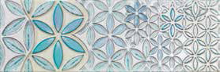 "Retro Vintage Deco Decor 1 Glossy  - 9.8"" x 29.5"" Wall Tile"