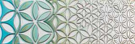 "Retro Vintage Deco Decor 3 Glossy  - 9.8"" x 29.5"" Wall Tile"