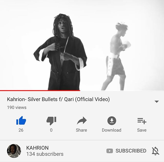 """It's out! """"Silver Bullets"""" by @kahrion ft/ @chicagoqari (prod. @sllime115). Directed by @exwhyzeeeeeee #linkinbio"""