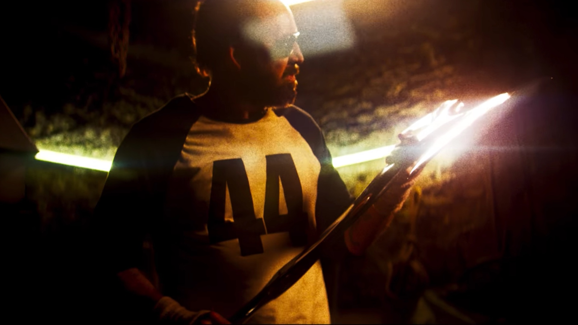 Don't rip his favorite shirt. MANDY (2018) starring Nicholas Cage is out now!