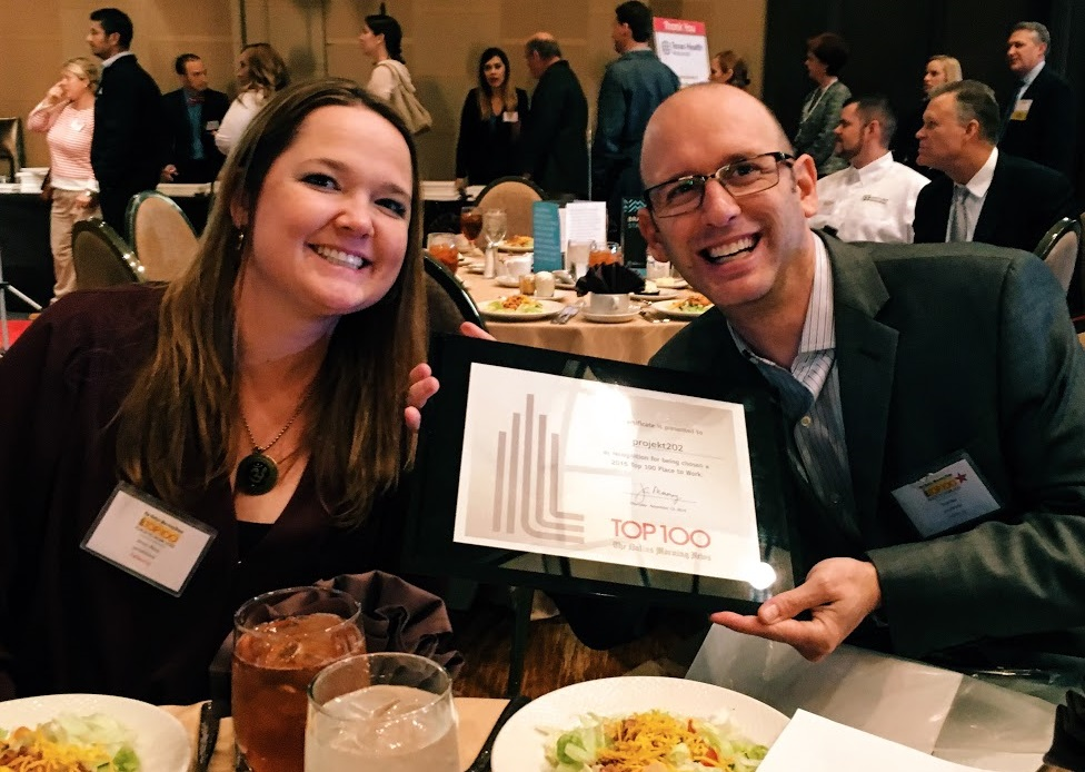 Winners of the Dallas Morning News' 2015 Top 100 Places to Work were announced at an awards luncheon in early November.