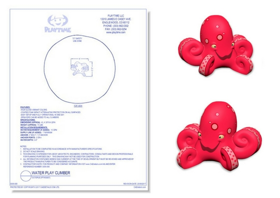 5008-008 Water Play Climber: Octopus