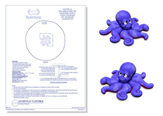 5008-023 Water Play Floatable: Octopus