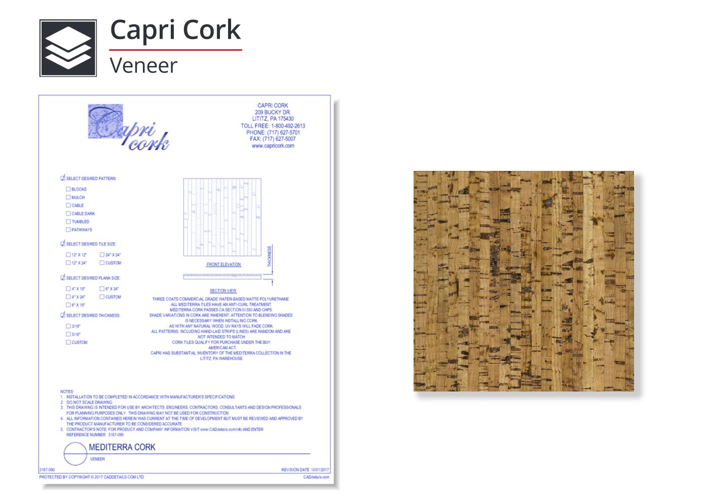 3167-090 Mediterra Cork Flooring - Veneer