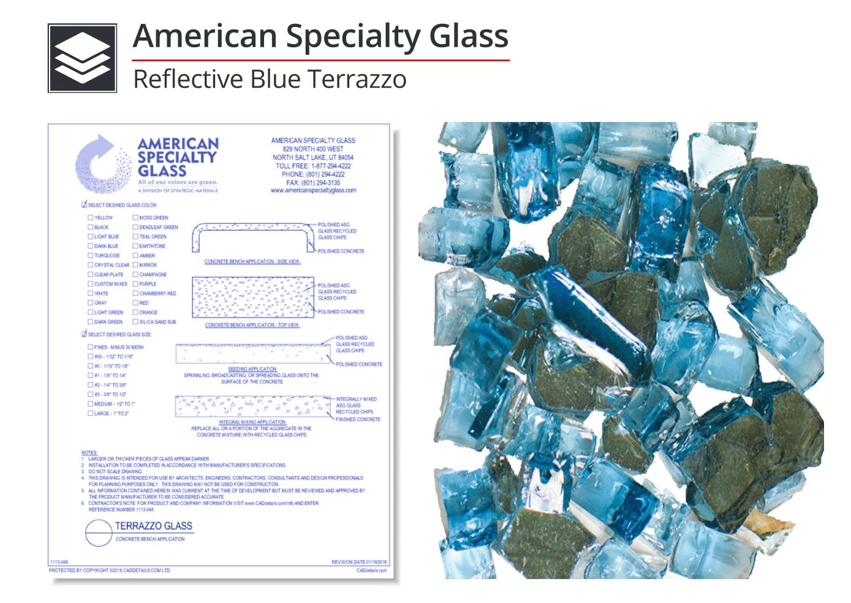 1113-012 Reflective Blue Terrazzo