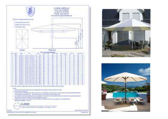 5129-001b Classic Large Outdoor Patio Umbrella