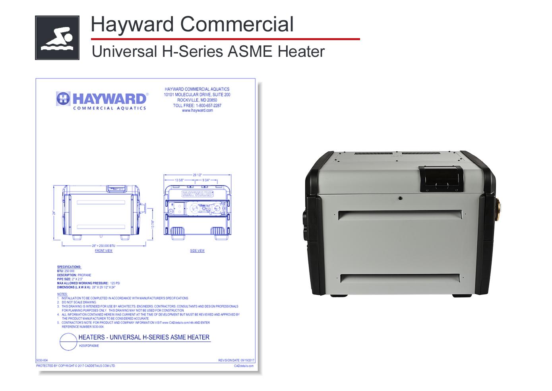 5030-002 Universal H-Series ASME Heater