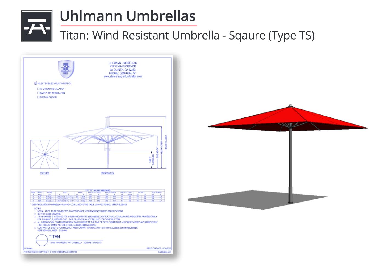 5129-004a Titan Wind Resistant Umbrella