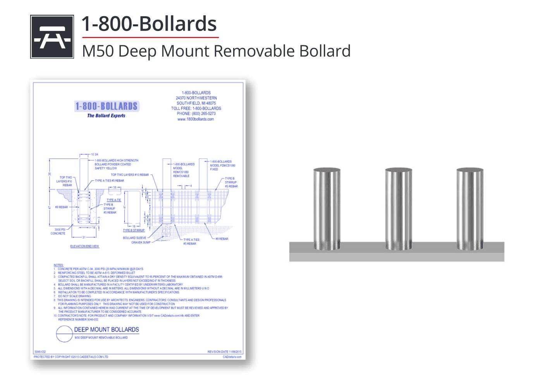 5046-032 Deep Mount Bollard