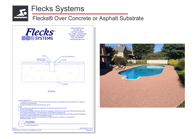 5195-018 Flecks® Over Concrete or Asphalt Substrate