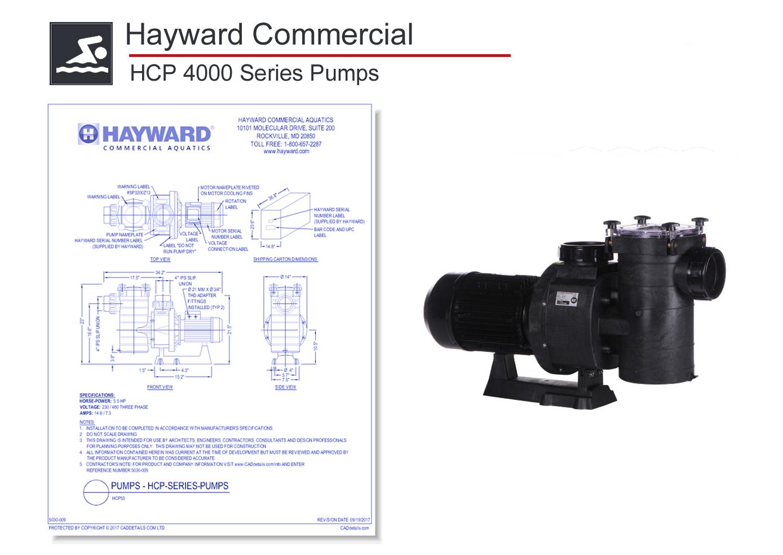 5030-009 HCP 4000 Series Pump