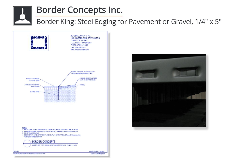 3419-001 Border King: Steel Edging for Pavement or Gravel