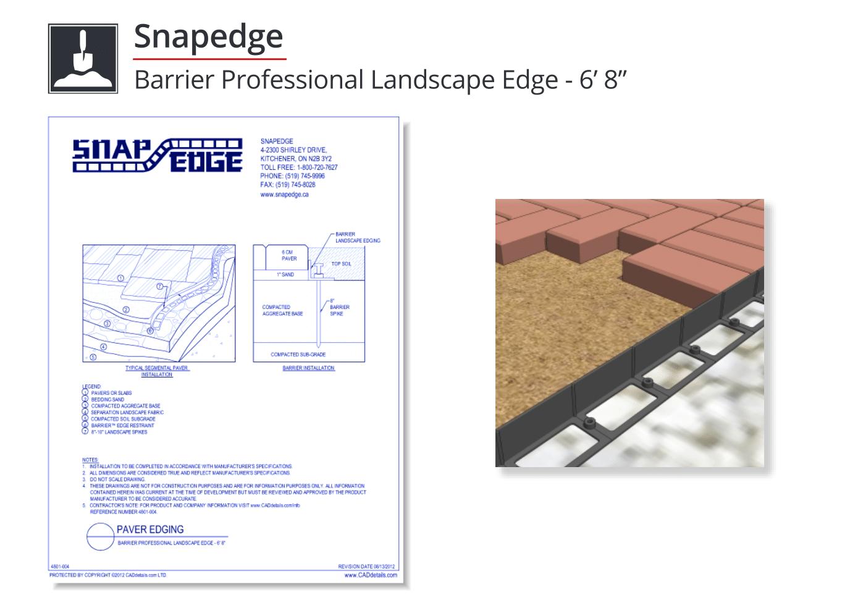 4801-004 Barrier Professional Landscape Edge