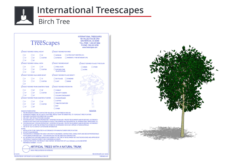 5112-018 Birch Tree