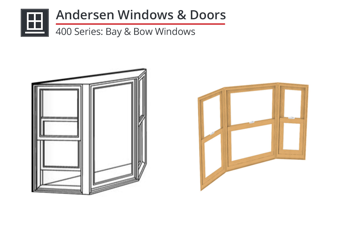 910-036 400 Series: Bay & Bow Windows