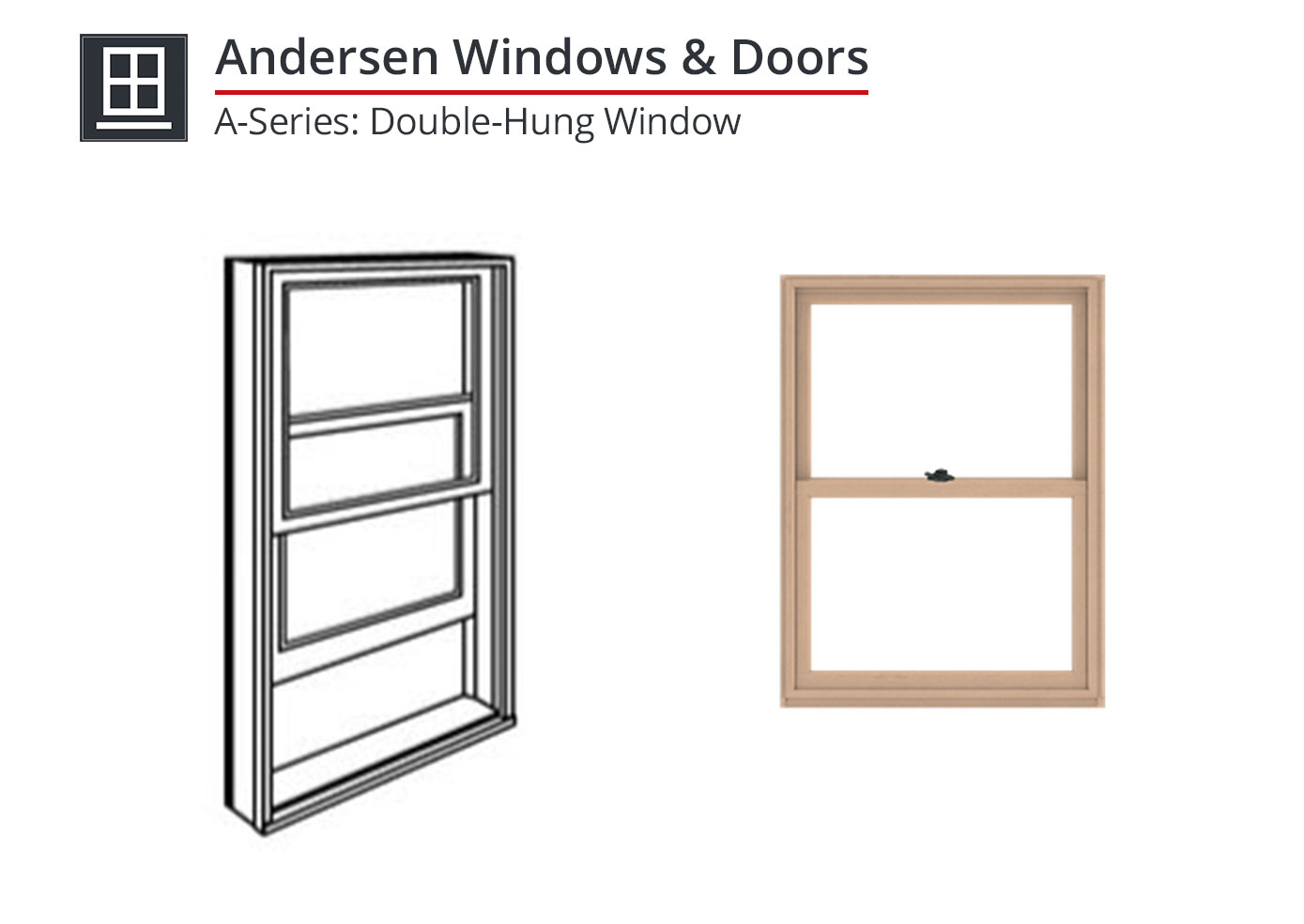 910-025 A-Series: Double-Hung Window