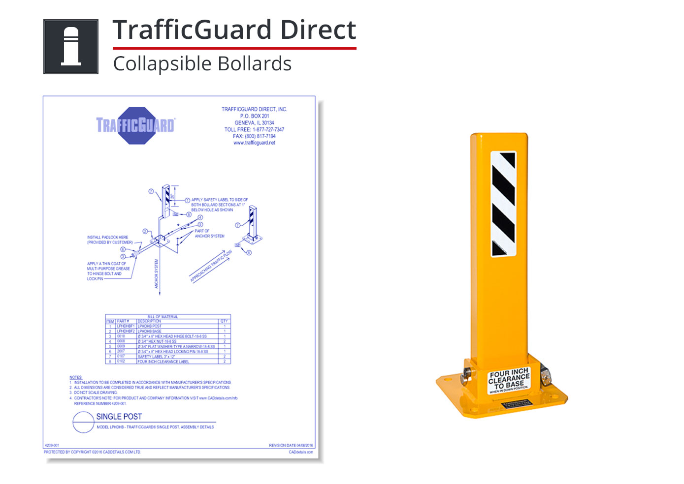 4209-001 Collapsible Bollards