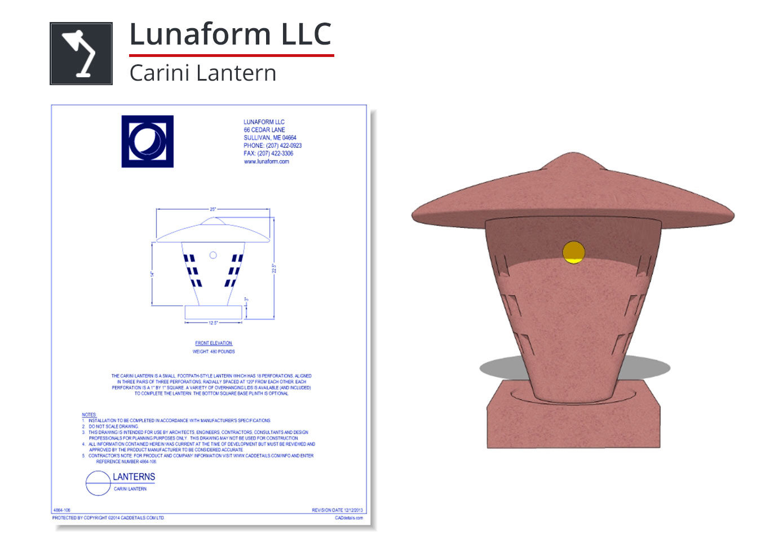 4864-106 Carini Lantern