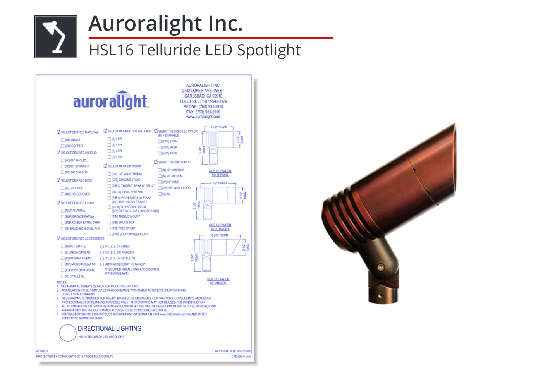 4159-003 Telluride LED Spotlight
