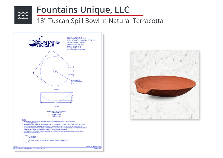 2642-001 Tuscan Spill Bowl