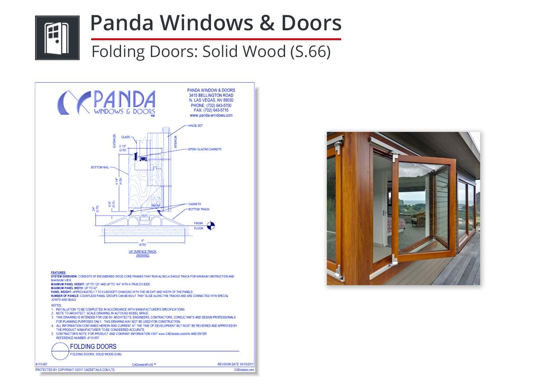 4115-007 Folding Doors: Solid Wood