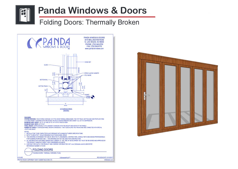 4115-003 Folding Doors: Thermally Broken
