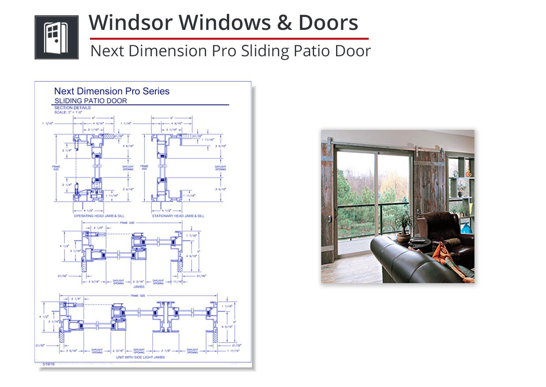 2153-283 Next Dimension Pro Sliding Door