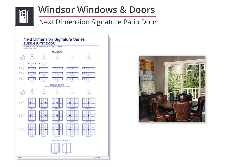 2153-258 Next Dimension Signature Patio Door