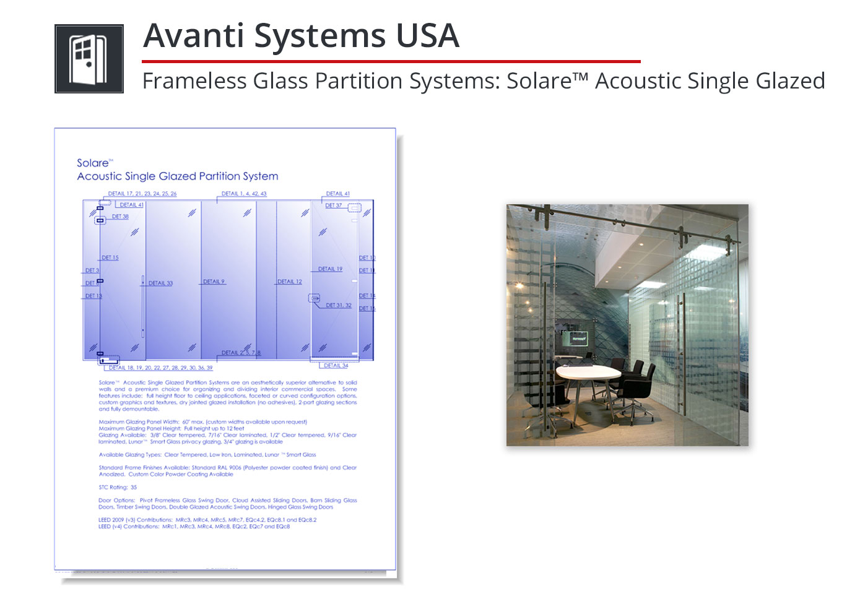 3215-221 Frameless Glass Partition System